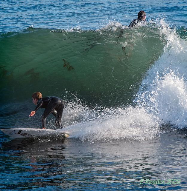 Surfers at Steamer Lane