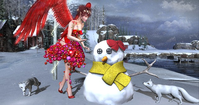 You look like you could use a friend, little snow girl...