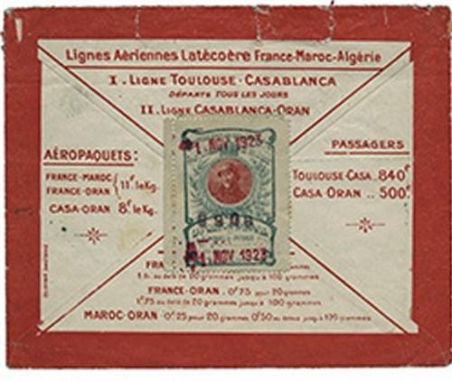 Lignes aériennes Latécoère Toulouse-Casablanca timbre aéropaquets