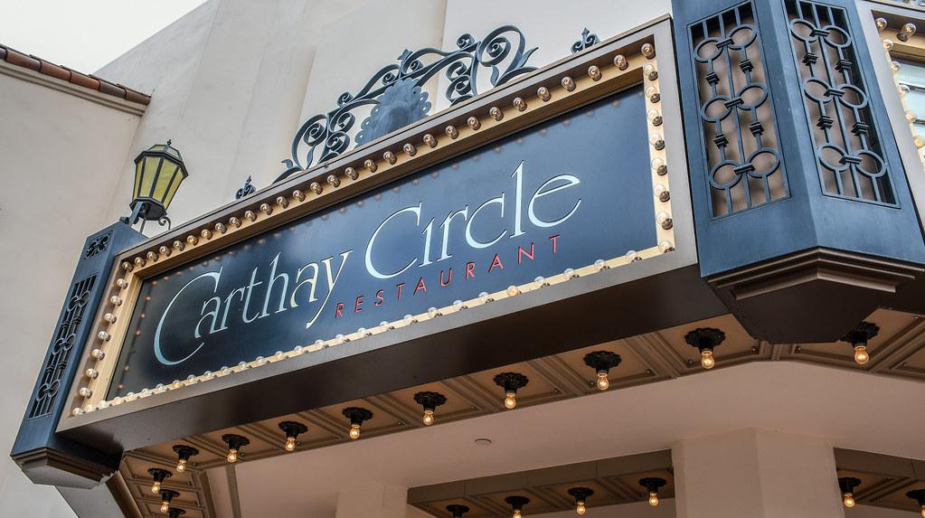 Carthay Circle Restaurant sign DCA
