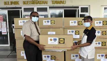 Tawau Health Office appreciates PPE contribution, donations from NGOs, individuals