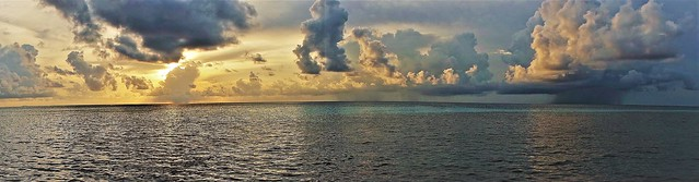 Sunset storm rolling in on Maldives