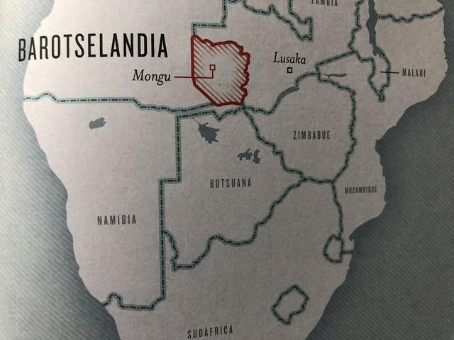 Países que no existen (en el mapa, Barotselandia)