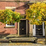 Autumn scene on Winckley Street, Preston