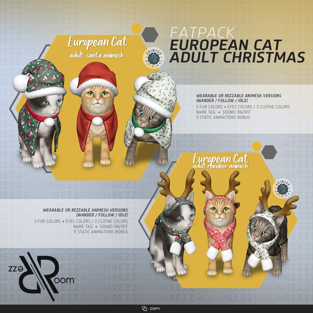 [Rezz Room] European Cat Adult Christmas Fatpack(Companion)