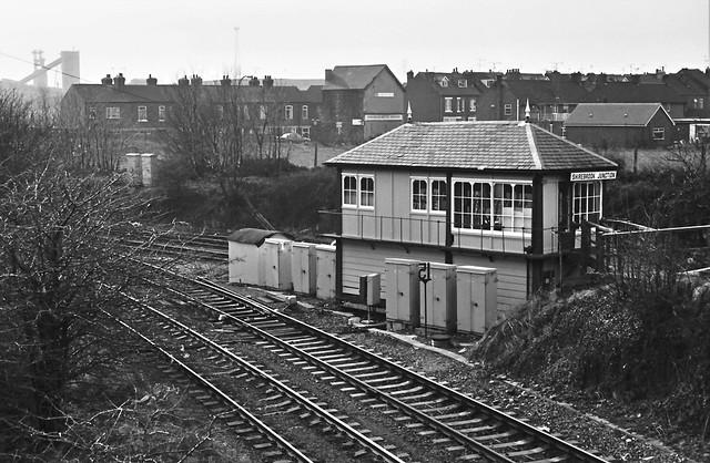 Shirebrook Junction signal box  25.02.93