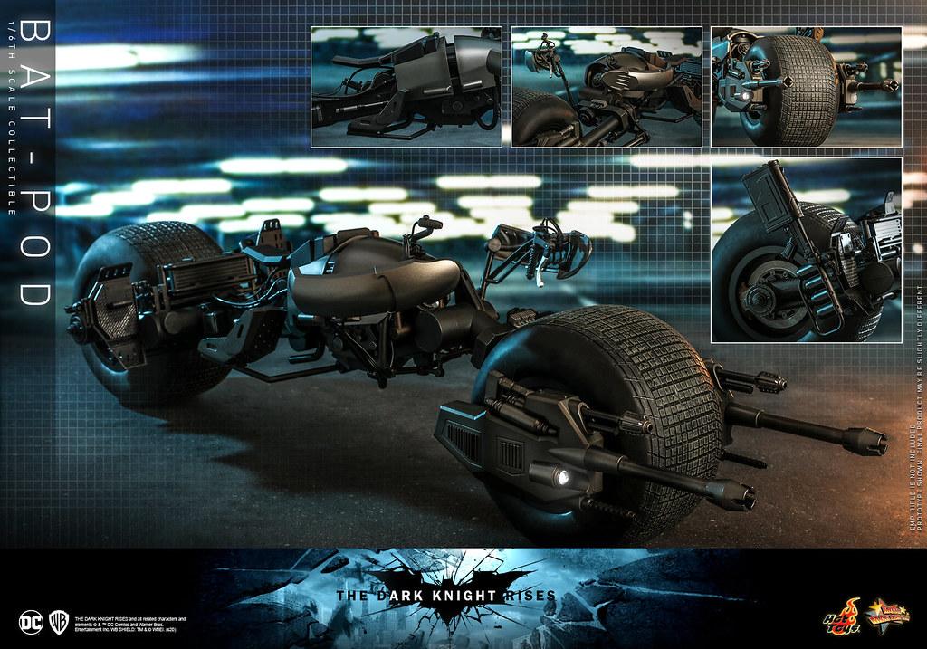 Hot Toys - MMS591 -《黑暗騎士:黎明昇起》1/6比例「蝙蝠機車」(Bat-Pod)蝙蝠俠不可或缺的高機動性載具!