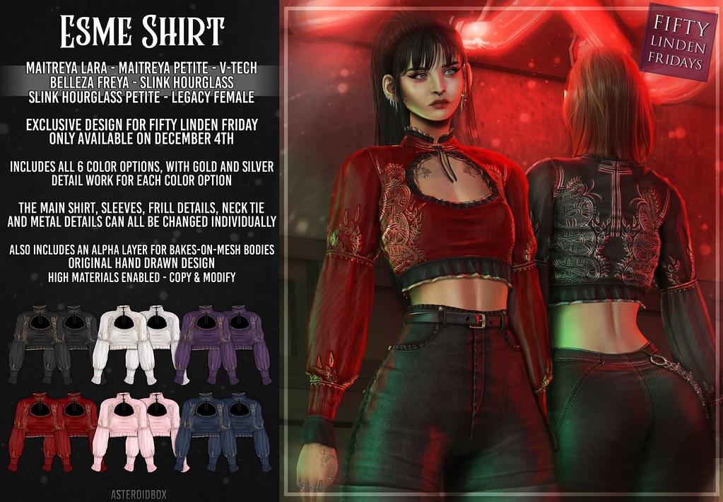 AsteroidBox. Esme Shirt - FLF Exclusive