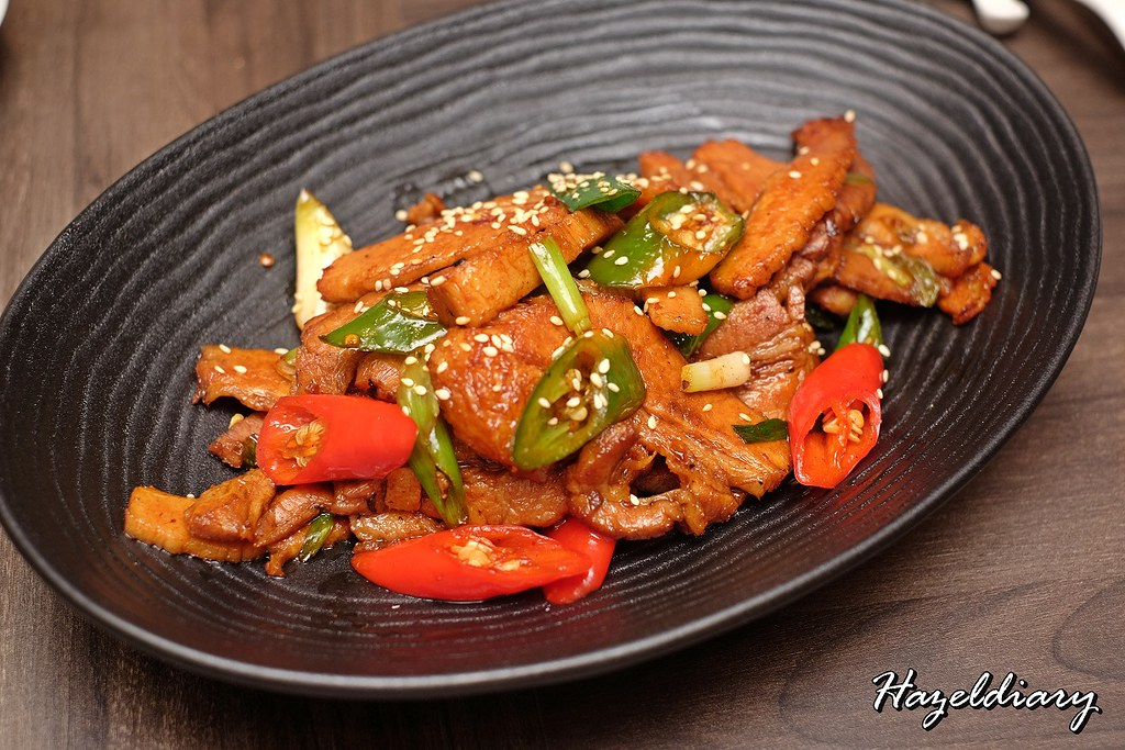 Si Chuan Dou Hua -PARKROYAL on Kitchener Road-Stir-Fried Sliced Pork with Leek in Spicy Sauce