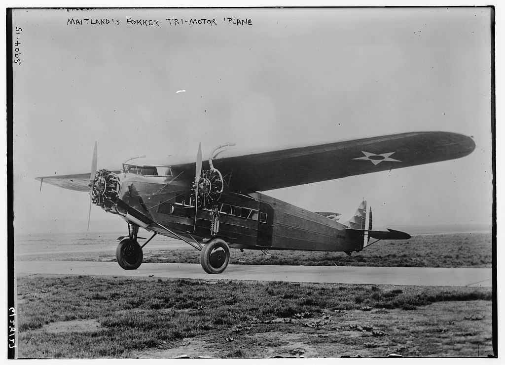 Maitland's Fokker Tri-motor plane (LOC)