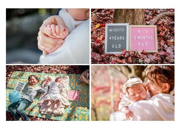 秋の公園でピクニック スヤスヤと眠る赤ちゃん