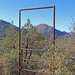 Little Granite Mountain Framed by Javelina Trail Gate