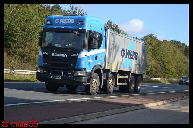 Scania G410 XT 'G. Webb' reg KY19 GWG