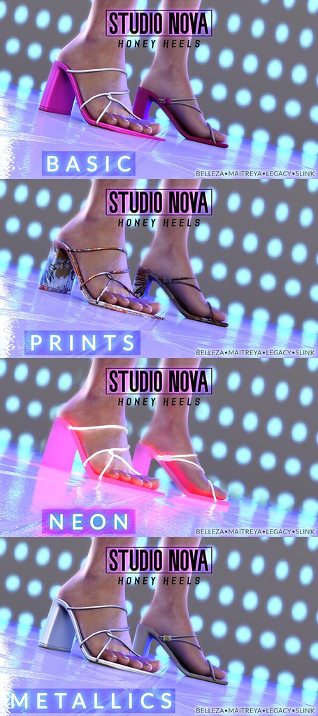 [StudioNova] Honey Heels – Available Packs