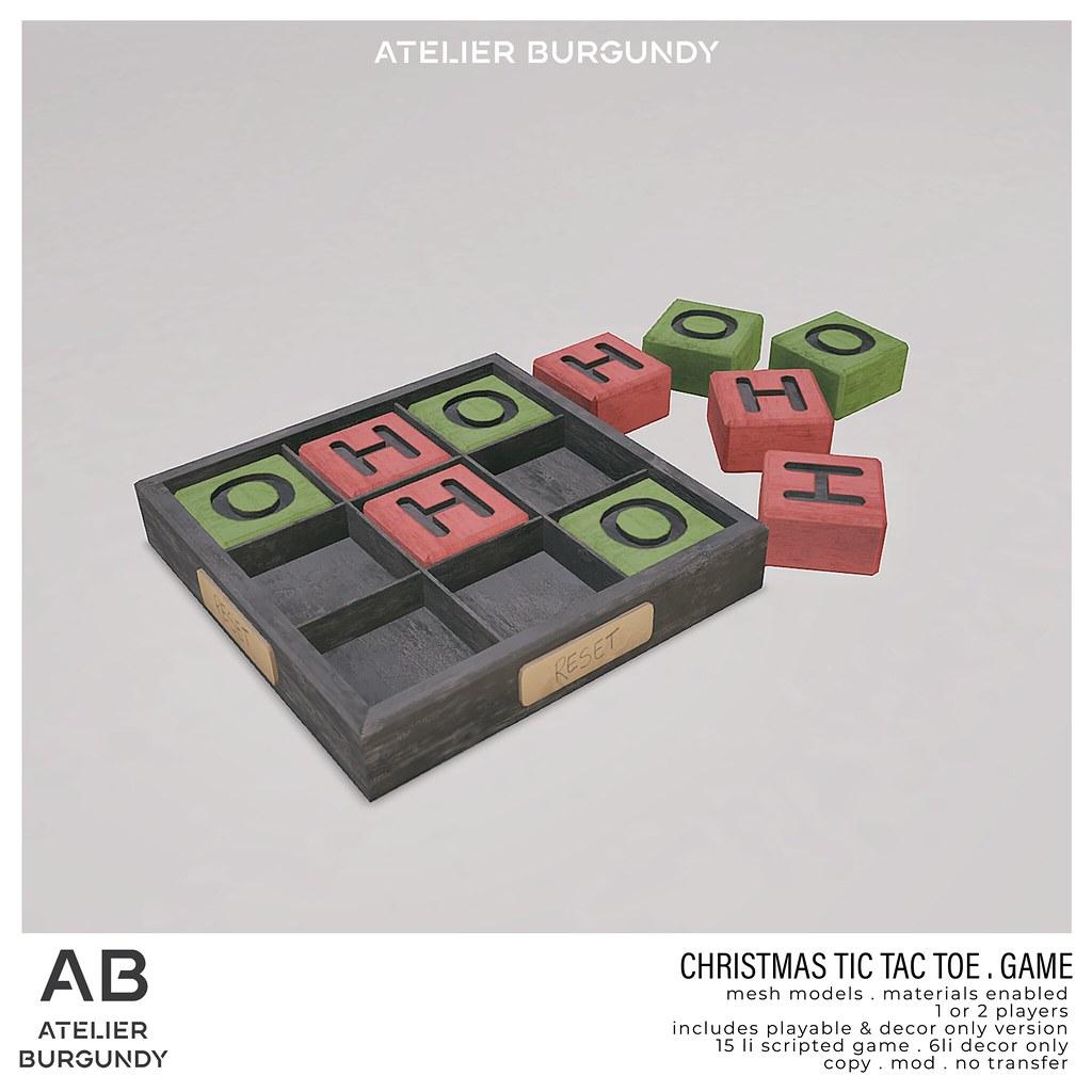 Atelier Burgundy . TicTacToe Christmas