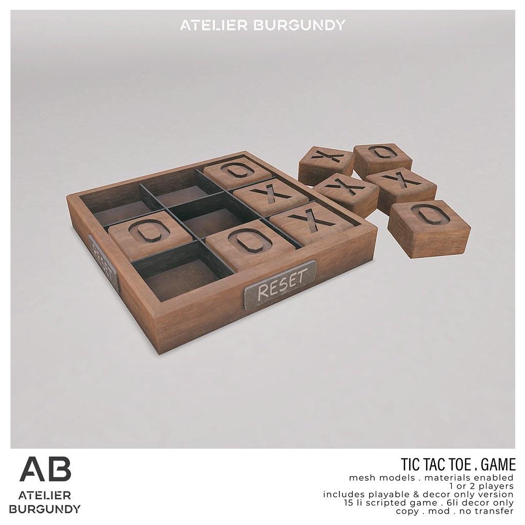 Atelier Burgundy . TicTacToe Game
