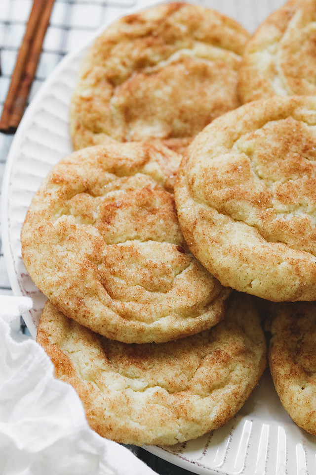 Classic Soft Batch Snickerdoodle Cookies