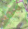Carte IGN du secteur Radichedda - Niffru - Lora avec la trace de la boucle du 03/12/2020