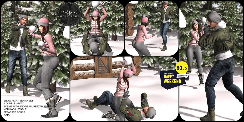 Secret Poses – Snow Fight @ Happy Weekend