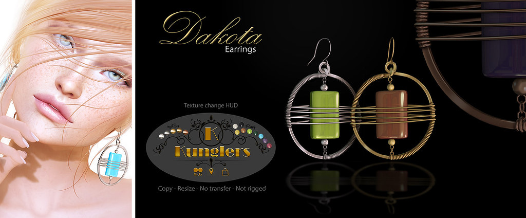 KUNGLERS - Dakota earrings