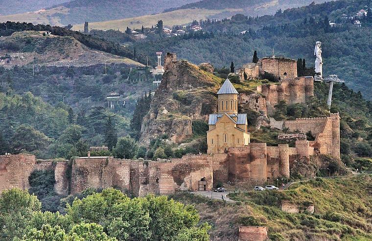 Narikala Fortress in Tbilisi, GEORGIA