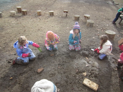 mud pies, cakes, and sandwiches