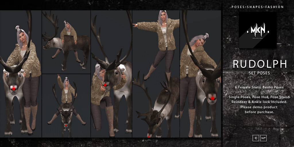 . MKN . Rudolph Set Poses