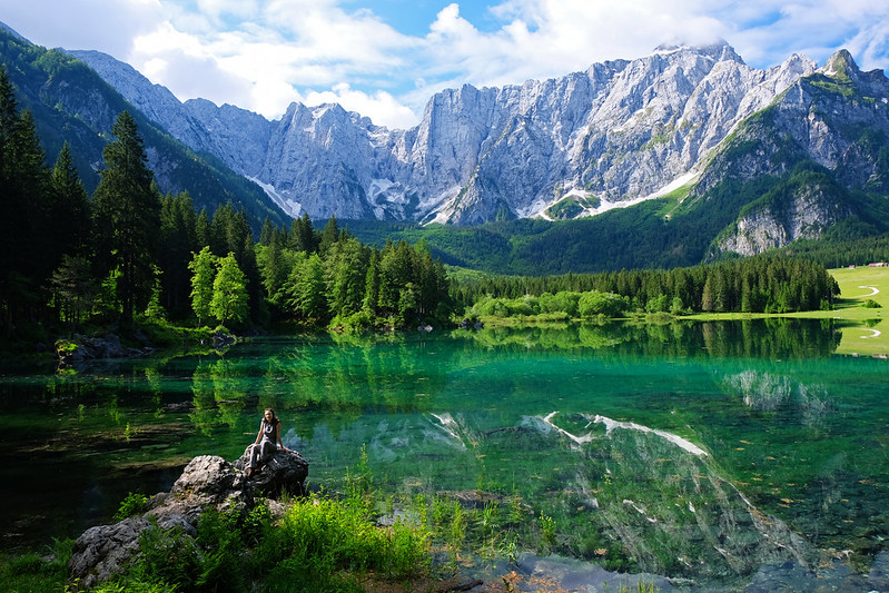 Upper Fusine Lake, Julian Alps, Italy