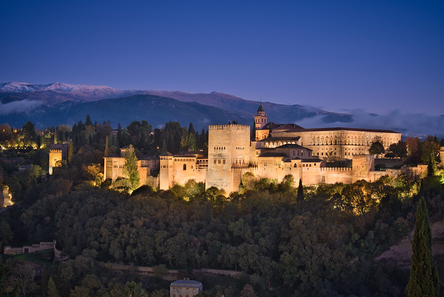 Alhambra and Blue Hour