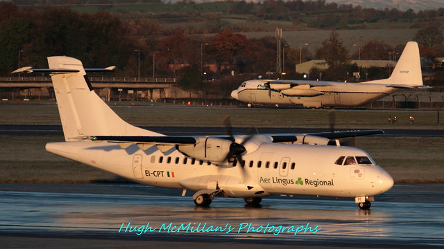 EI-CPT and N3755P, at Glasgow Airport, Scotland.