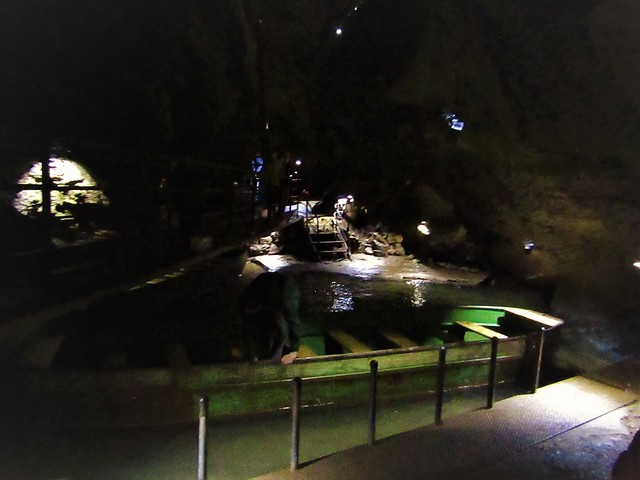 The longest underground boat ride in the world open for tourists in the Caves of Remouchamps