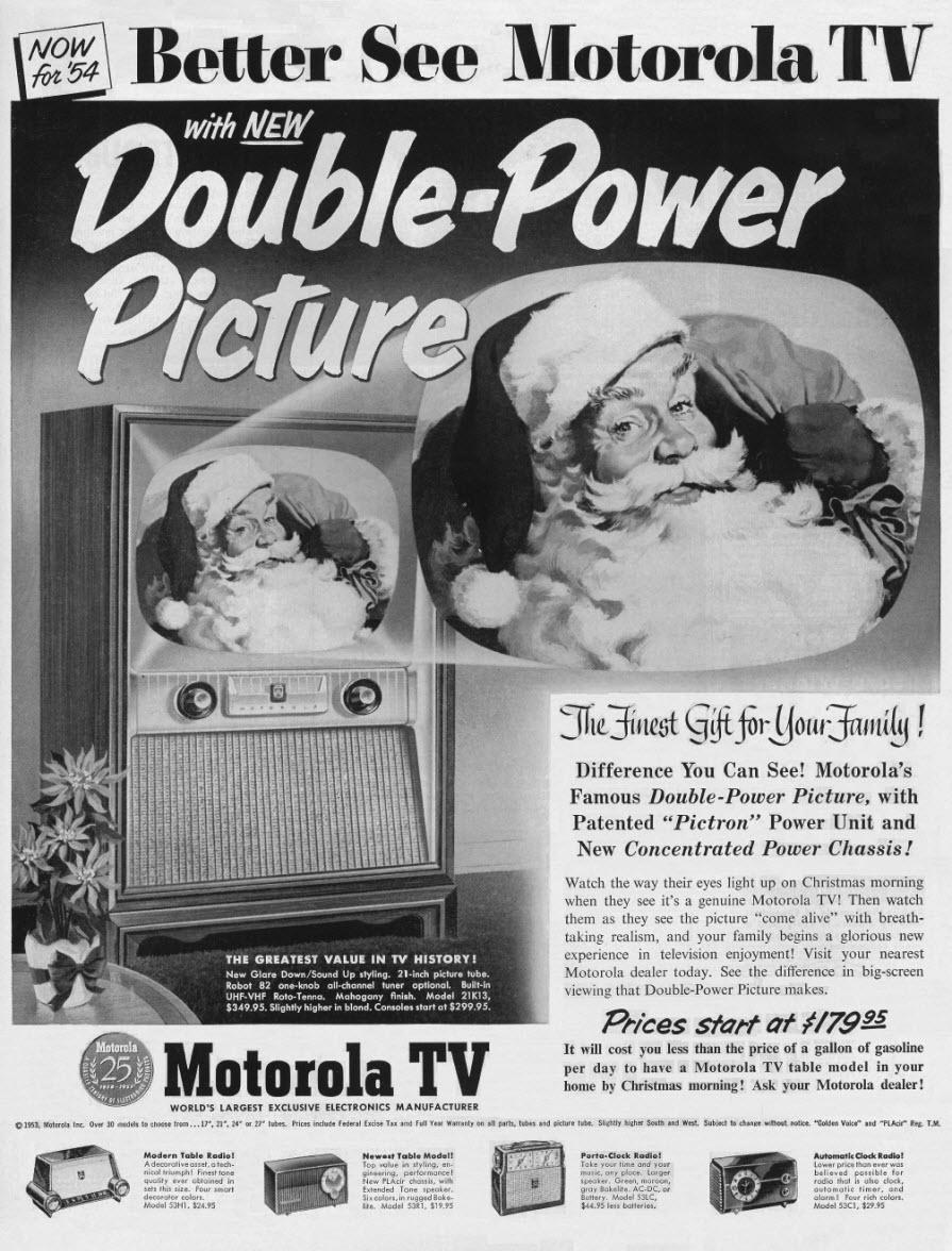 Motorola - published in Ebony - December 1953