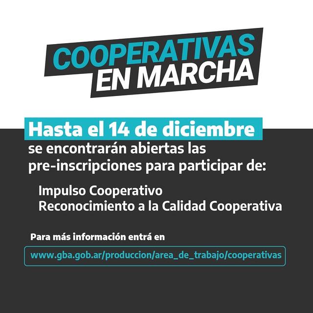 Placa Cooperativas en Marcha