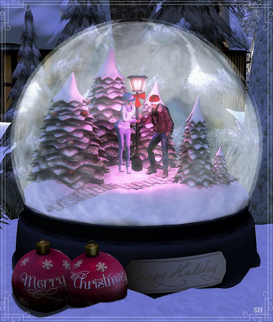 Christmas scene with Belinda