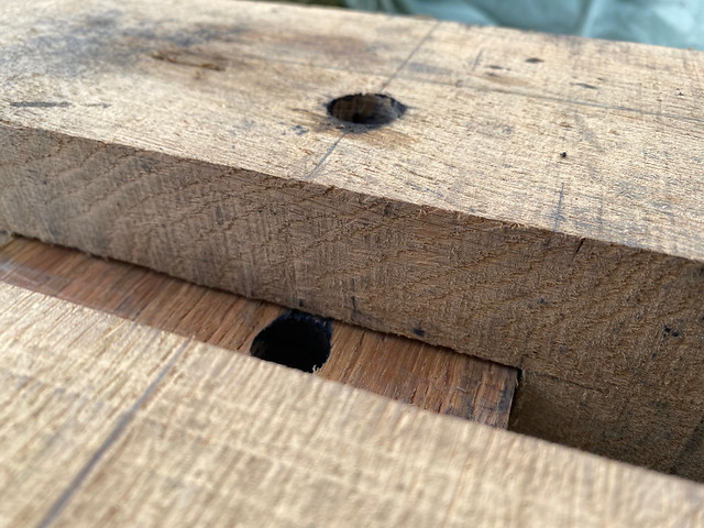 Play in the mortice and tenon joint