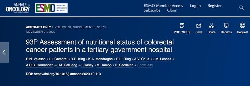 Malnutrition. Velasco et al.