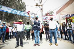 041220 Alcalde Jorge Muñoz inaugura av Poblet que une Pachacamac con Cineguilla 011