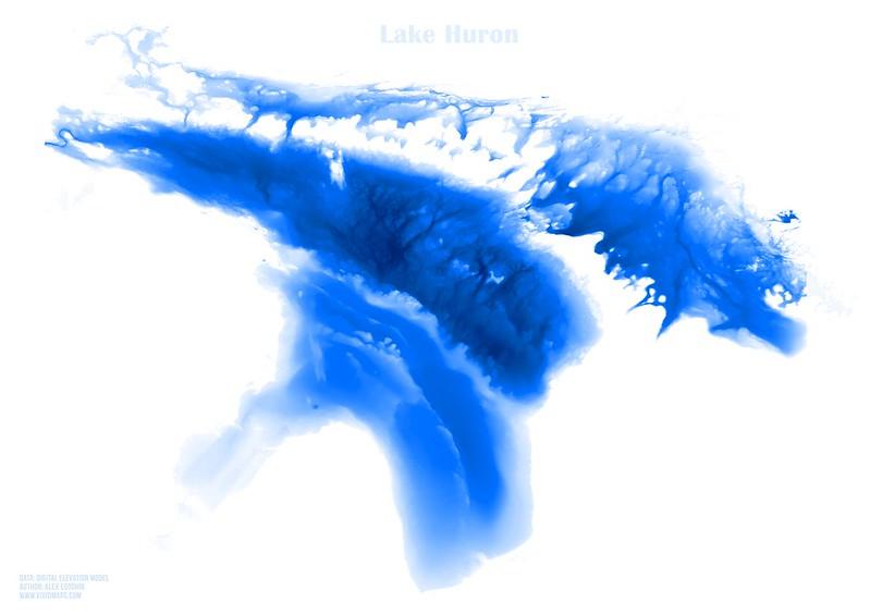 Map of the Lake Huron