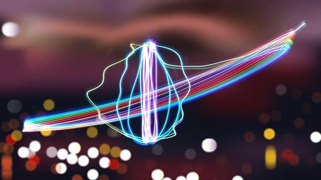 RGB LED Lichtspuren