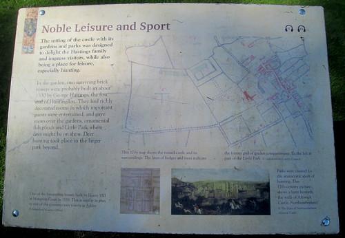 Ashby de la Zouch Castle, Information Board