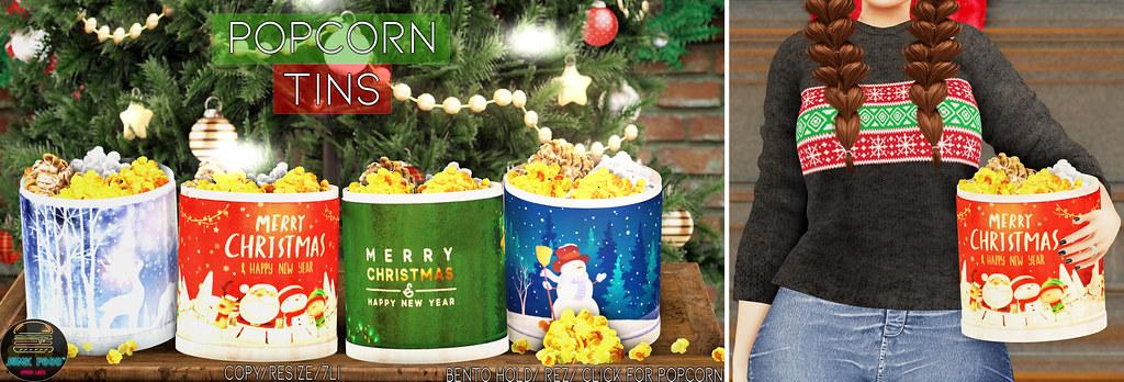 Junk Food – Popcorn Tins