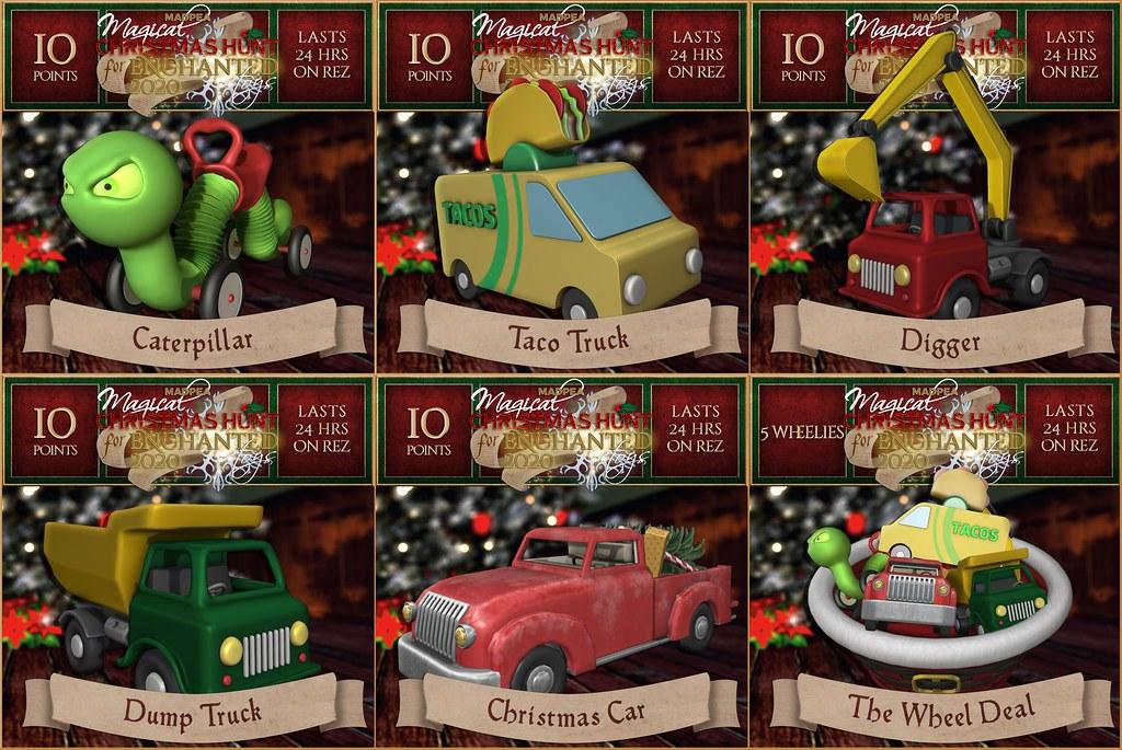 Christmas Hunt Toys: Wheelies