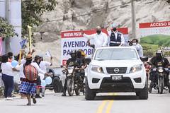 041220 Alcalde Jorge Muñoz inaugura av Poblet que une Pachacamac con Cineguilla 040