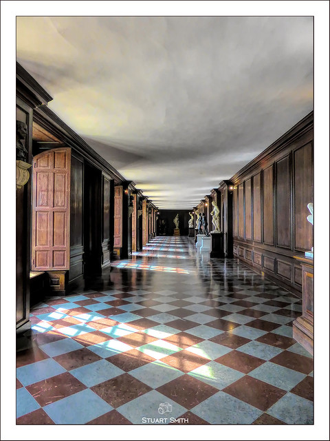 Corridor, Hampton Court Palace, East Molesey, Greater London, England UK