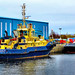 Scotland Greenock tugs Svitzer Milford and SD Dependable in the ship repair dock 1 December 2020 by Anne MacKay