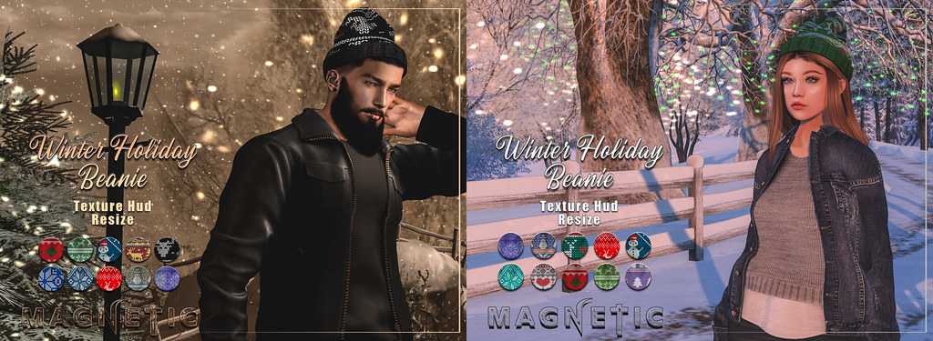 Magnetic – Winter Holiday Beanie