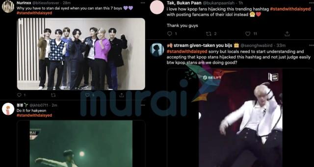 Hashtag #StandWithDaiSyed Timbul Trending, Dipergunakan Oleh Peminat K-Pop?