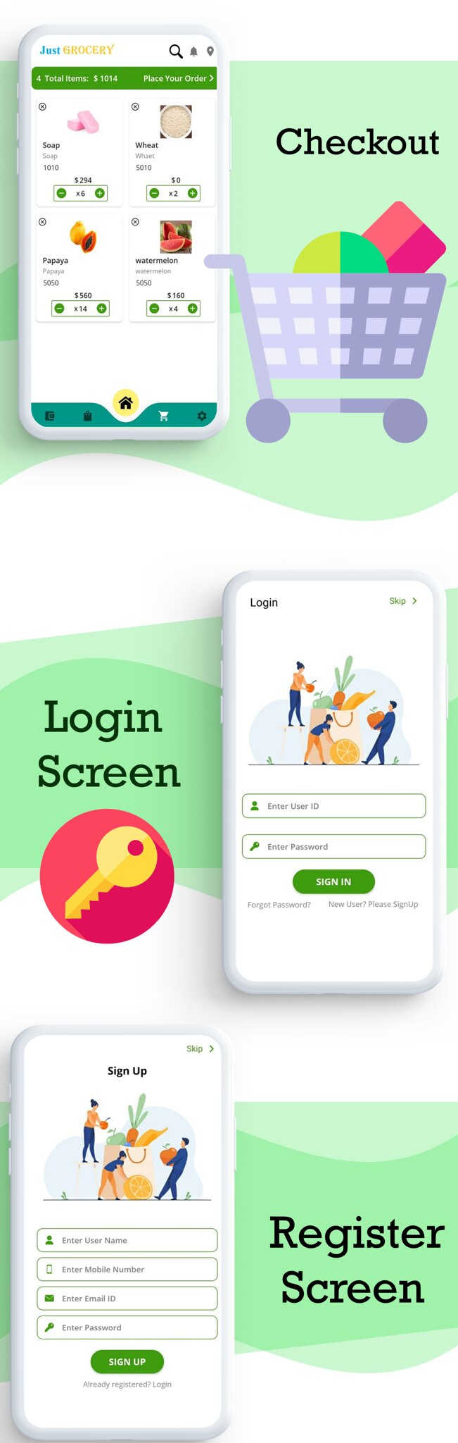 Just Grocery App | Grocery At Home | Paypal & Razorpay Integrated | Delivery & Customer App - 4