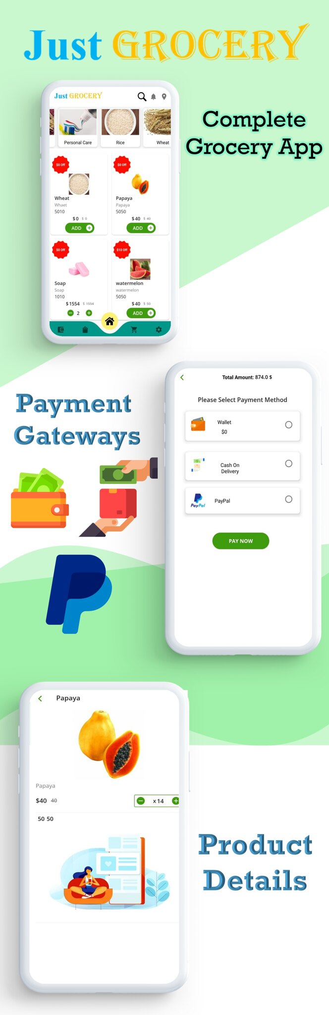 Just Grocery App | Grocery At Home | Paypal & Razorpay Integrated | Delivery & Customer App - 3