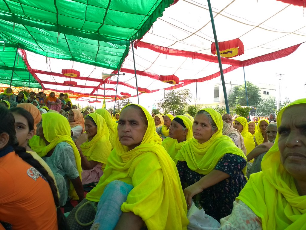 Women farmers at a protest in Punjab in October 2020. Image by Kanupriya